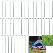 50Pcs Portable Outdoor Camping Hiking Heavy Duty Steel Tent Peg Ground Nail【AU】