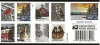 US Scott #5541b, Booklet Pane 2020 Winter Scenes VF MNH