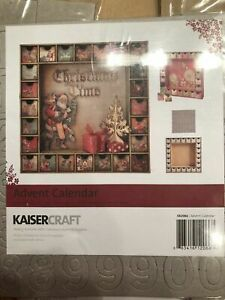 Kaisercraft 13 x13-inch Beyond the Page MDF Shadow Box + Drawers Advent Calendar