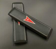 Pontiac soft Black seat belt covers pads 2pcs