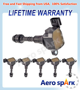 New Ignition Coil 6PCS For 02-06 Nissan Altima 3.5L & 05-16 Frontier 4.0L UF349
