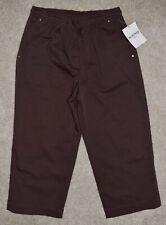 New Breckenridge Cropped Pants 4P Brown Twill Capris