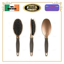 Round Paddle Brush With Boar Bristle Massage Tangle Free Cushion Hairbrush Comb