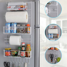 6-Tiers Kitchen Storage Rack- Over-Fridge Hook Shelf Cabinet Organizer Total NEW