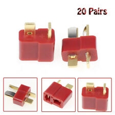 20Pairs Ultra T-Plug Male and Female Wiring Connectors fit Deans Style Lipo NEW
