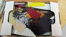 Stained GLASS SCRAPS all sizes, textures, colors, Mosaic glass tile 3 lbs