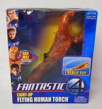 New MIB Fantastic 4 Four Light Up Flying Human Torch I Really Fly Action Figure
