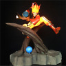 Naruto Shippuden Uzumaki Naruto LED Light PVC Action Figure Nine Tail Mode Scene