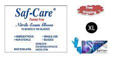 Saf-Care® Nitrile Powder Free Examination Gloves - XLARGE 1000/CS XL MEDICAL