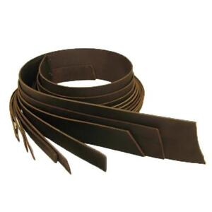 """Buffalo Leather Strips 8/9 ounce 2.5"""" (64mm) Brown"""