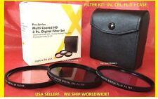 3pc FILTER KIT 58mm CPL FLD UV CP-L FL SET for Camera  Camcorder Video