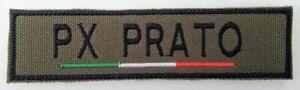 Toppa Patch Personalizzata Tricolore Italiano Nome/Cognome Velcro Verde Oliva