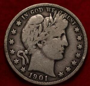 1901 Philadelphia Mint Silver Barber Half Dollar