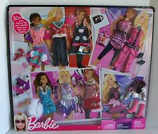 RARE Barbie Fashion Gift Set - 30+ Fashions & Accessories 2009 Ages 3+ Dresses