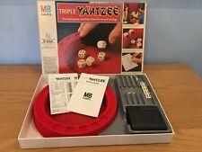 Vintage 1981 Original triple Yahtzee Dice Game - MB Games