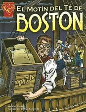 El Motin del te de Boston (Graphic History (Spanish Hardcover))-ExLibrary