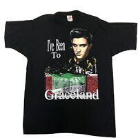 Vtg 1990's Elvis Presley I've Been To Graceland Sz XL EUC
