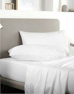 """400 Thread Counts 100% Egyptian Cotton Fitted Sheet WHITE  9"""" Depth   5 Sizes"""