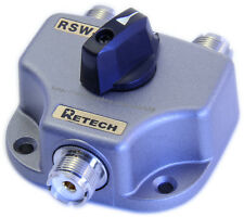 RETECH RSW-2  Antenna Coaxial Cable Switch SO239 Sockets RF coaxial switch