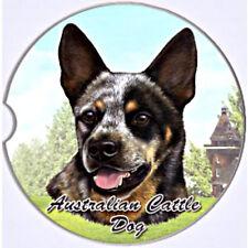 E&S Pets Absorbent Car Coaster Dog Breed Stoneware Australian Cattle Dog Heeler
