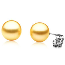 Pacific Pearls® 11mm Australian Golden South Sea Pearl Earrings Graduation Gifts