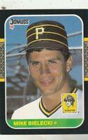 FREE SHIPPING-MINT-1987 Donruss Mike Bielecki #415 PIRATES PLUS BONUS CARDS