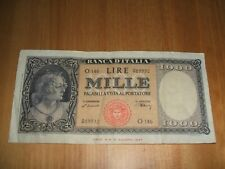 ITALY 1,000 LIRE BANKNOTE 1947