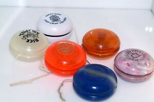 Vintage lot of 6 Yo Yo's Duncan Dells yoyo