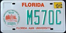 "FLORIDA "" A & M UNIVERSITY - CENTENNIAL "" 2012 FL Specialty License Plate"