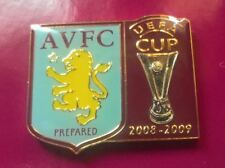 RARE ASTON VILLA U.E.F.A CUP 2008 / 2009 FOOTBALL PIN BADGE ON BACKING CARD