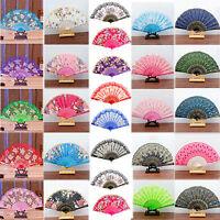 Spanish Style Dance Wedding Party Lace Silk Folding Hand Held Flower Fan Best