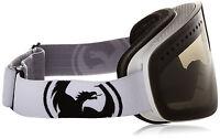 Dragon Alliance NFX Goggles Ski snowboard Powder Smoke/Wh+ Yellow bonus lens NEW