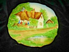 VINTAGE RUBIAN ART DECORATIVE COUNTRY COTTAGE PLATE