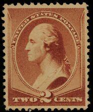 1881 US Scott# 210 - 2 Cent Washington Red Brown - Mint NG - VF