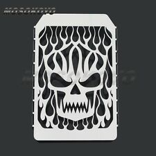 Motorcycle Skull Flame Radiator Grill Cover Guard For Kawasaki Vulcan VN 1500