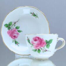 Meissen: Mokkatasse Rote Rose, Espressotasse, Blume, Espressotasse, Tasse, cup