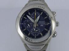 Seiko MX Flight-master 7T62 200m Titanium/SS bracelet quartz chrono alarm watch