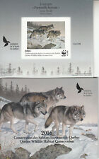Canada MNH Quebec Conservation 2016 WWF Overprint Imperf DQ83a