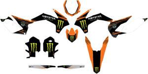 DCOR - 20-30-208 - Monster Energy KTM Complete Graphics Kit, White