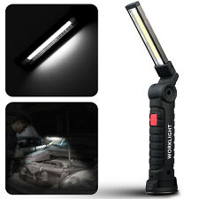 COB LED Inspection Lamp Magnetic Work Light Rechargeable Hand Torch Flashlight