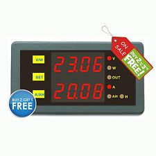 DC 0-90V 50A Voltage Current Amper Hour Power Meter 5-40V No Need Isolated Power