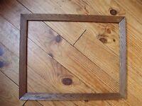 Beau cadre alsacien plaqué chêne du début XXe siècle - feuillure : 44,9 x 35,1