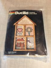 Bucilla Bless Our Home Cross Stitch Kit in Wooden Shadowbox Frame Sealed