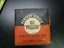 Vintage Antique Display Mancave Shop Crafts Box Only Perfect Circle Oil Piston