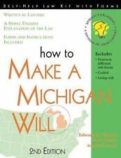 How to Make a Michigan Will: With Forms (Self-Help Law Kit With Forms)-ExLibrary