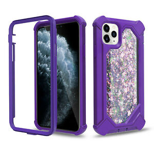 For IPhone 11 XS Case 360 Full Body Shockproof Rugged Glitter Quicksand Durable