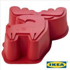 Baking Mould BAKGLAD Elk Shaped Red Silicone Waffles Pan Cake Baked Mold Tray UK