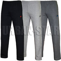 New Mens Nike Fleece Joggers Open Hem Bottoms Track Sweat Jogging Pants S M L XL