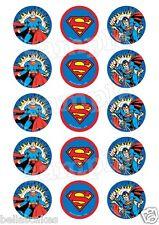 Eßbar Superman Avengers Tortenaufleger NEU Party Deko Muffinaufleger
