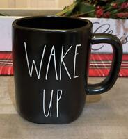 Rae Dunn By Magenta - LL WAKE UP - LL BLACK Ceramic Coffee Mug
